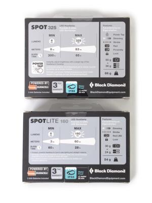 機能比較/上:SPOT325、下:SPOTLITE160